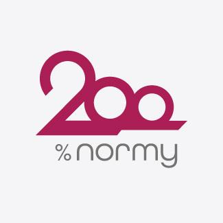 Identyfikacja wizualna logo 200% normy