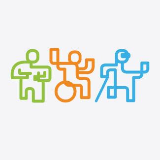 Logotyp kampanii społecznej Niepełnosprawni - myśl pozytywnie